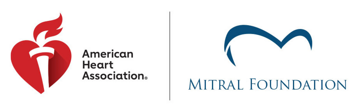 American Heart Association and the Mitral Foundation Joint logo