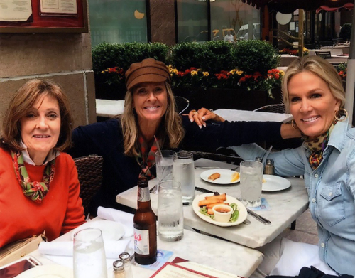 Jeannie S. at lunch with her two sisters in Naples, Florida after her mitral valve repair.
