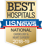2018-19 U.S. News National Best Cardiology & Heart Surgery